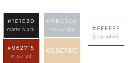 nouveau site Gimme Social Web - palette