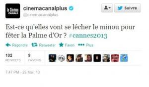 Canal Plus tweet homophobe