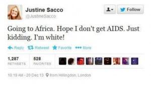 Justine Sacco tweet raciste