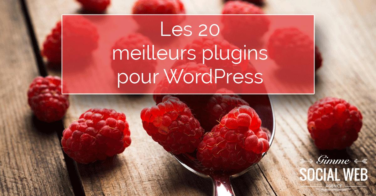 Les 20 meilleurs plugins WordPress - Gimme Social Web