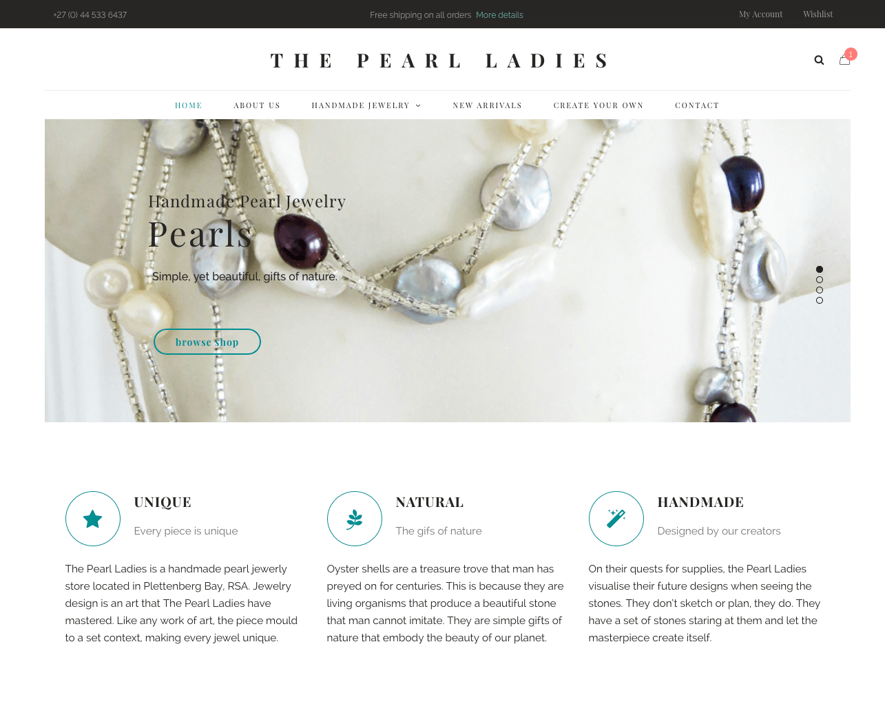 refonte de site e-commerce visuel 2 the pearl ladies