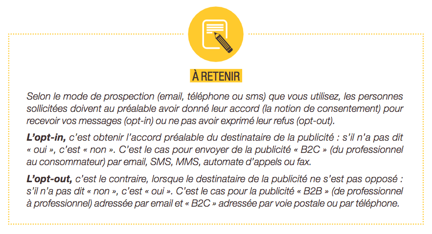 RGPD 2018 Cnil opt-in opt-out