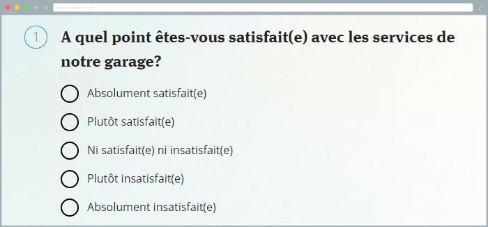questionnaire en ligne gratuit échelle de likert