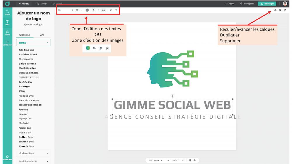 créer un logo gratuit dashboard 2